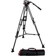 Manfrotto 504HD Head w/546B 2-Stage Aluminum Tripod-TopendAU