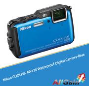 Buy Nikon COOLPIX AW120 Waterproof Digital Camera-Blue