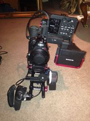 Canon EOS C300 Camcorder (EF mount) With Zacuto C-shooter rig and view