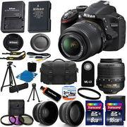 Nikon D3200 Digital SLR Camera - Black w/AF-S DX 18-55mm 1:3.5-5.6G VR