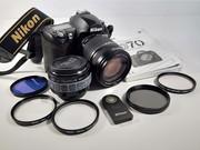 Nikon D 70 digital camera,  lens and accessories
